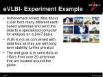 evlbi experiment example