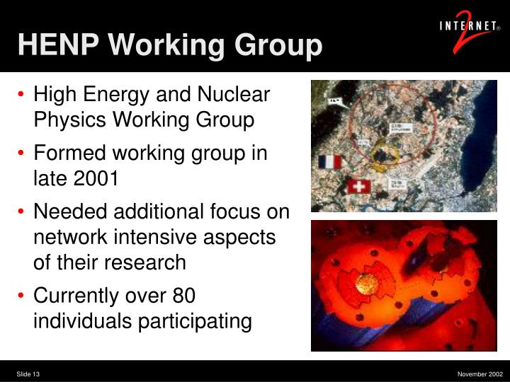 HENP Working Group