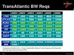transatlantic bw reqs