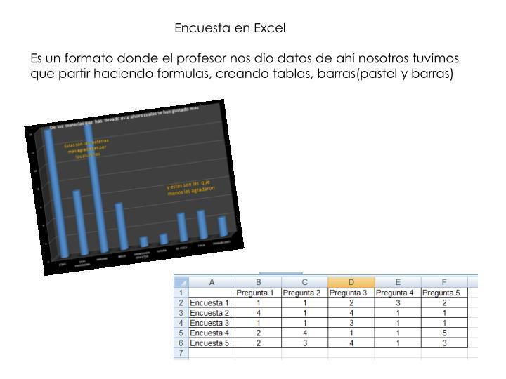 Encuesta en Excel