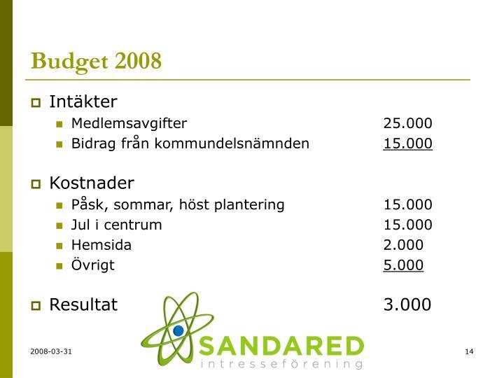 Budget 2008