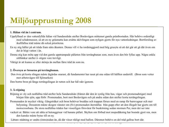 Miljöupprustning 2008
