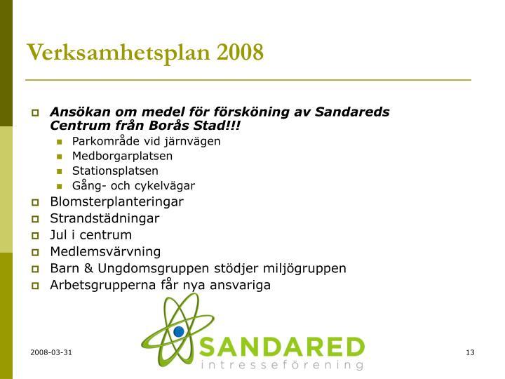 Ansökan om medel för försköning av Sandareds Centrum från Borås Stad!!!