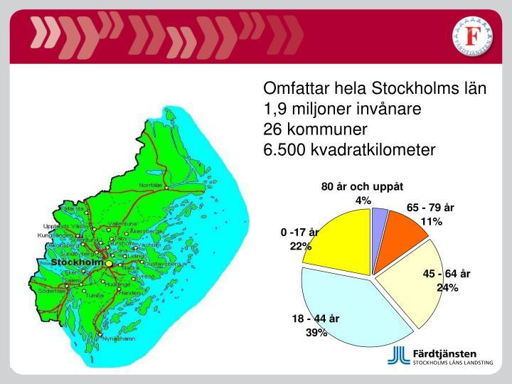 Omfattar hela Stockholms län