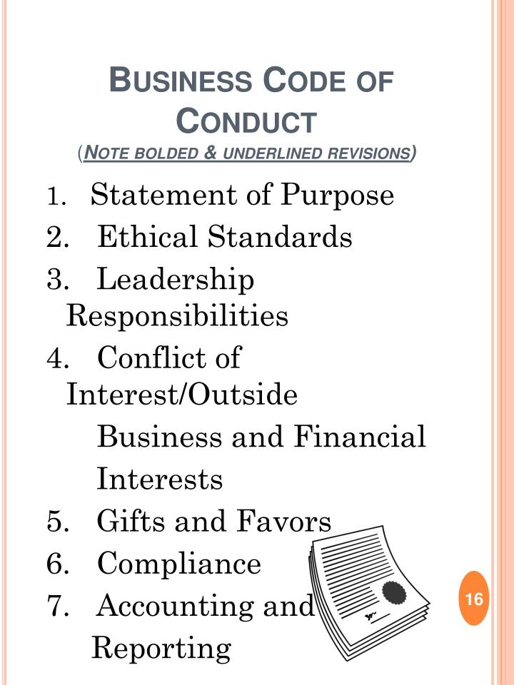 Business Code of Conduct