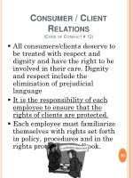 consumer client relations code of conduct 12