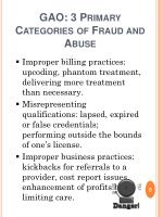 gao 3 primary categories of fraud and abuse