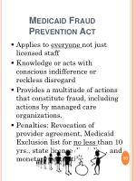medicaid fraud prevention act