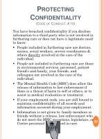 protecting confidentiality code of conduct 10