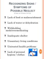 recognizing signs symptoms of possible neglect code of conduct 12