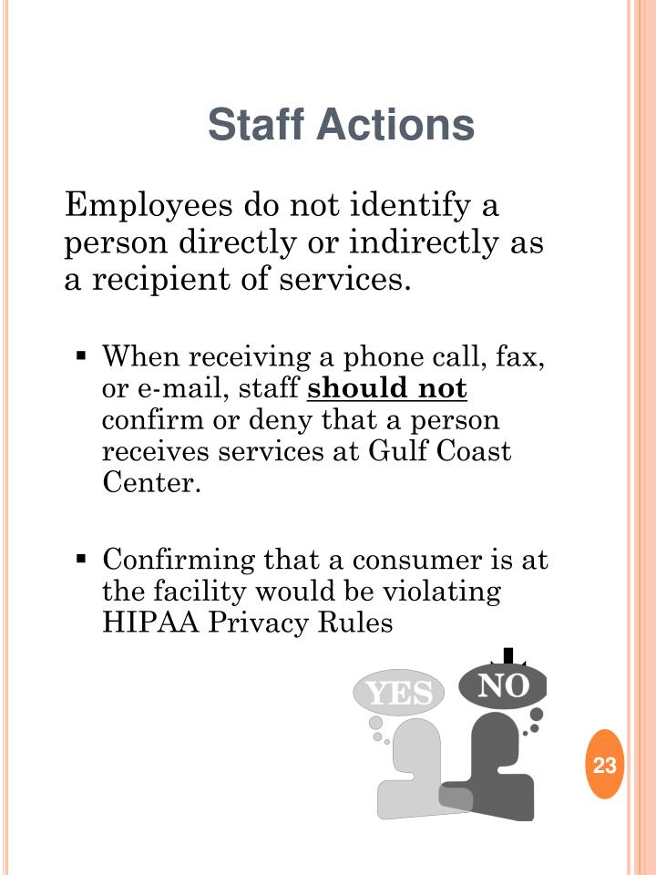 Staff Actions