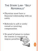 the stark law self referrals