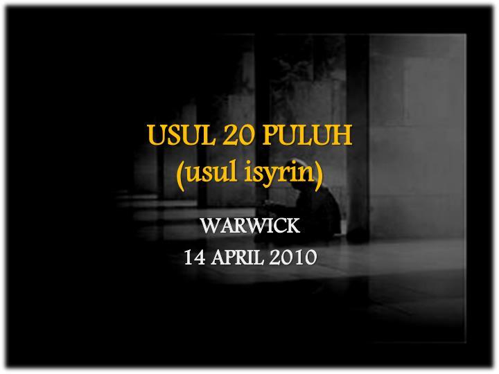 USUL 20 PULUH