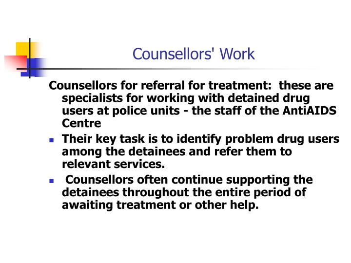 Counsellors' Work