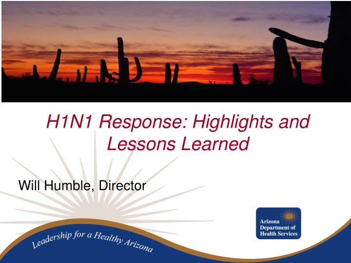 H1n1 response highlights and lessons learned