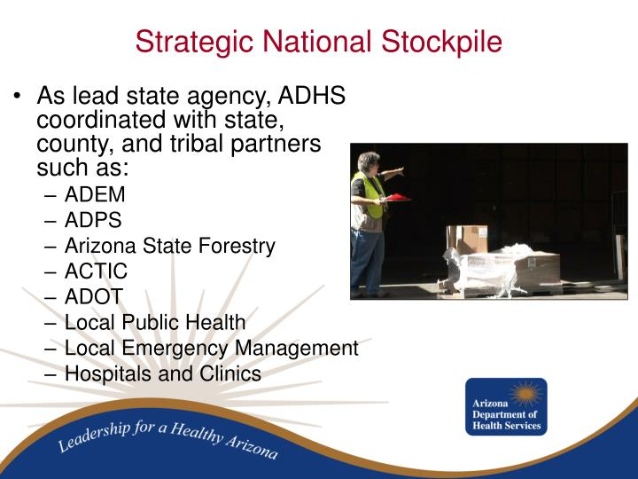 As lead state agency, ADHS coordinated with state, county, and tribal partners such as: