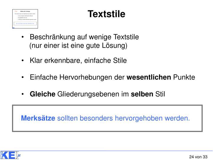 Textstile