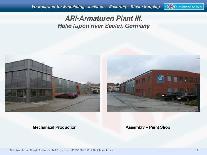 ARI-Armaturen Plant III.