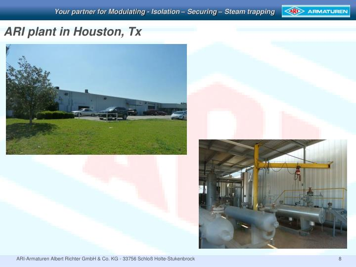 ARI plant in Houston, Tx