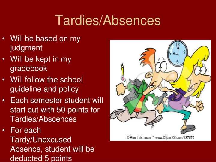 Tardies/Absences