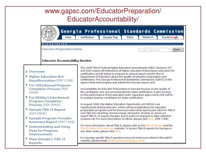www.gapsc.com/EducatorPreparation/