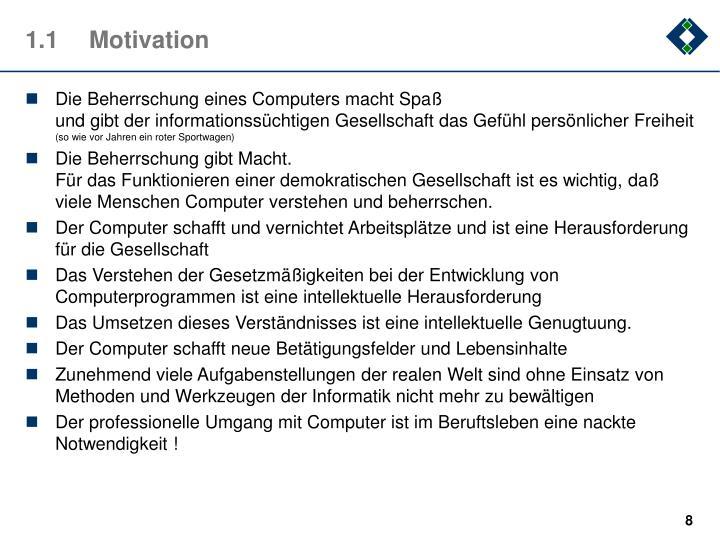1.1Motivation