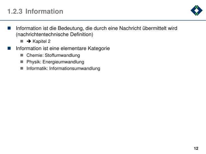 1.2.3Information