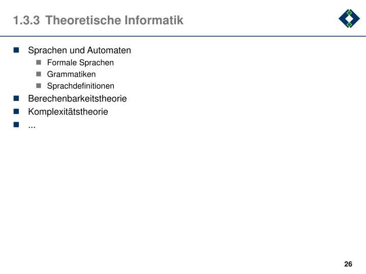 1.3.3Theoretische Informatik
