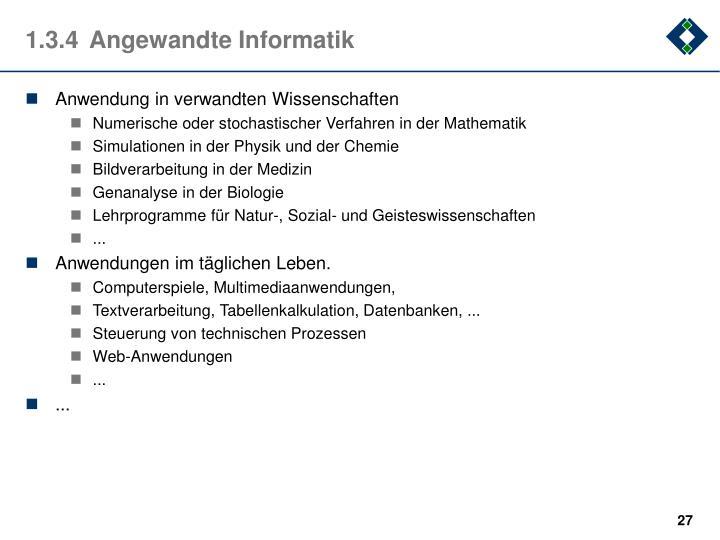 1.3.4Angewandte Informatik
