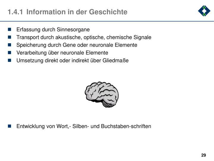 Erfassung durch Sinnesorgane