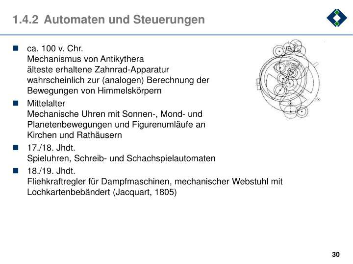 1.4.2Automaten und Steuerungen