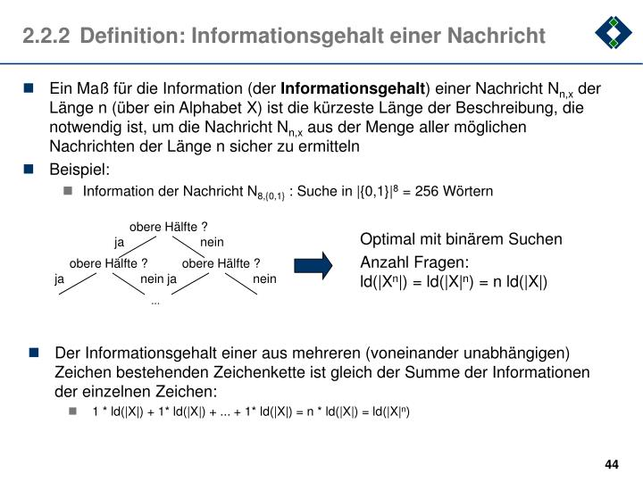 Ein Maß für die Information (der