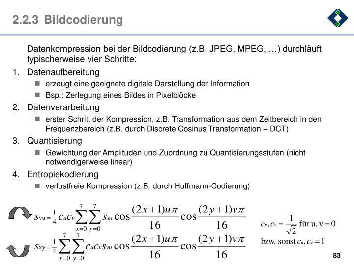 2.2.3Bildcodierung