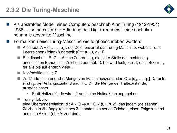 2.3.2Die Turing-Maschine
