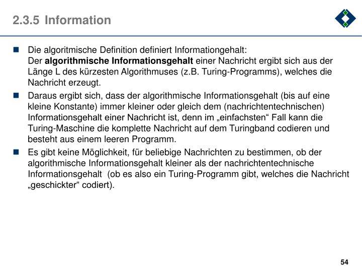 2.3.5Information