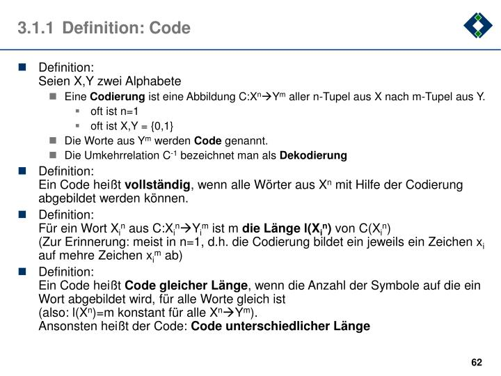 3.1.1Definition: Code