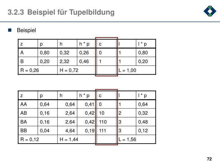 3.2.3Beispiel für Tupelbildung