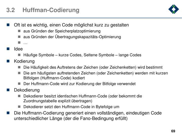 3.2Huffman-Codierung