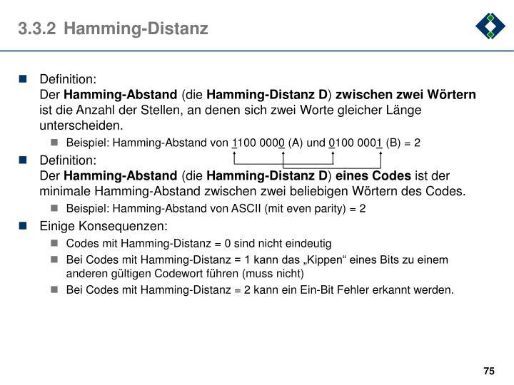 3.3.2Hamming-Distanz