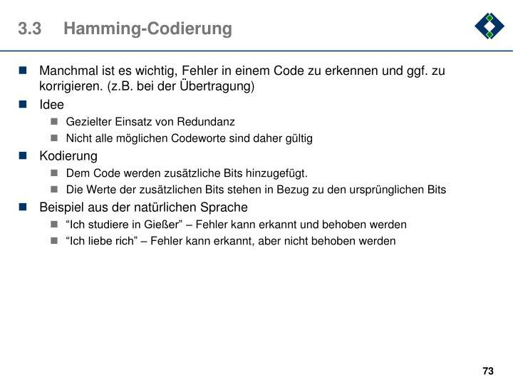 3.3Hamming-Codierung
