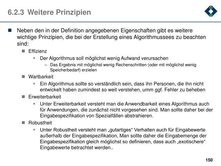 6.2.3Weitere Prinzipien