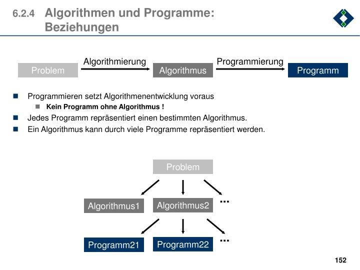 Programmieren setzt Algorithmenentwicklung voraus