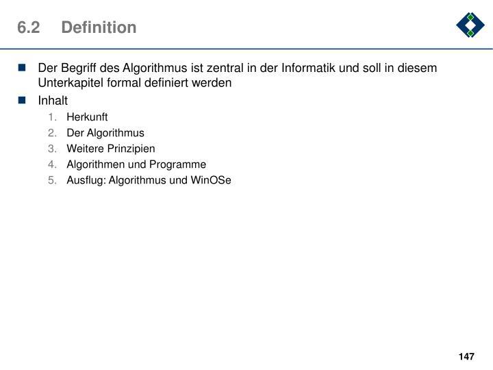 6.2Definition
