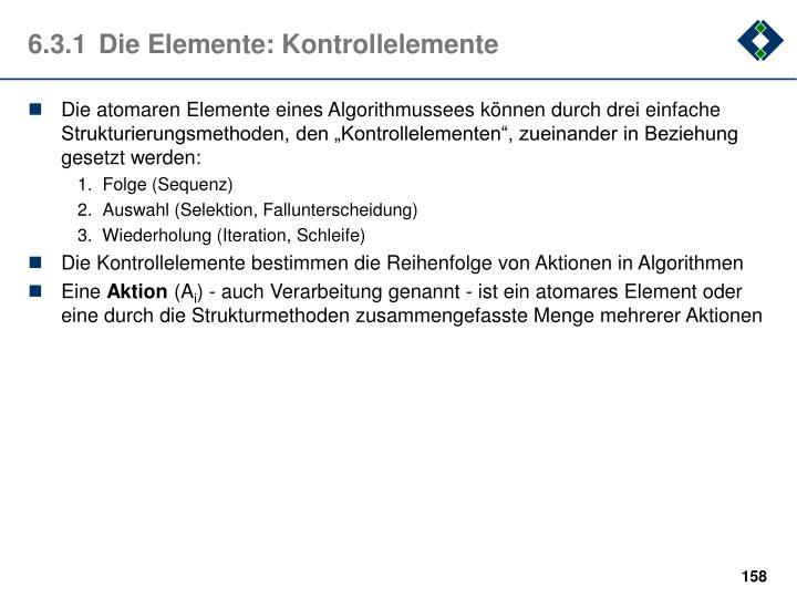 6.3.1Die Elemente: Kontrollelemente