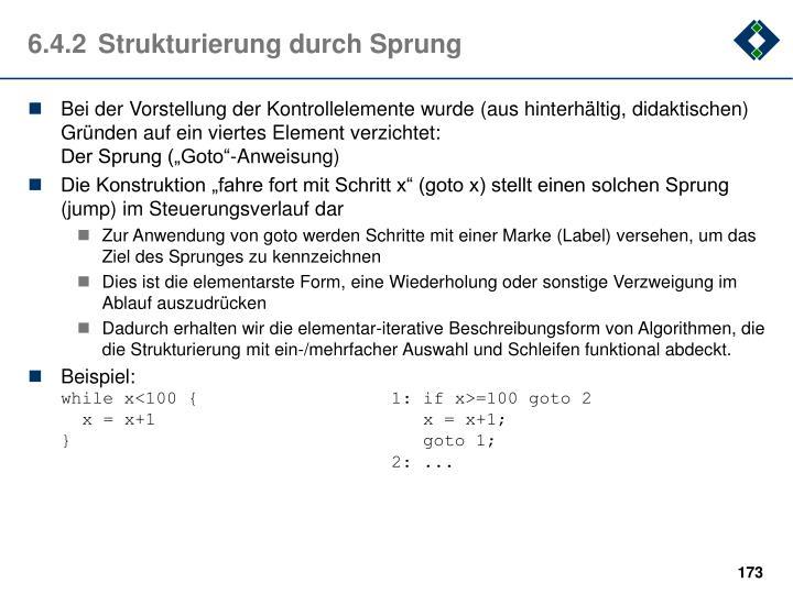 6.4.2Strukturierung durch Sprung