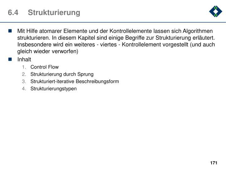6.4Strukturierung