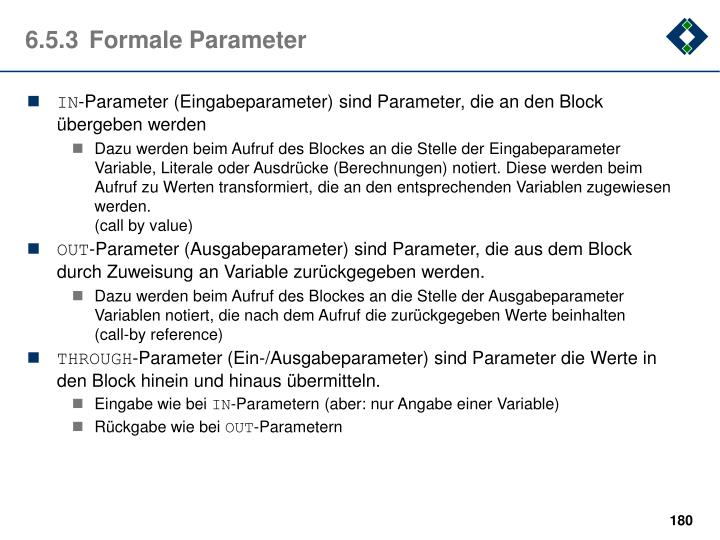 6.5.3Formale Parameter