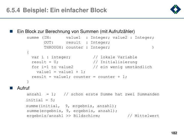 6.5.4Beispiel: Ein einfacher Block