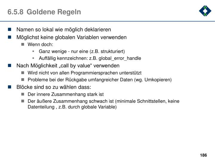 6.5.8Goldene Regeln