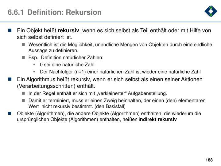6.6.1Definition: Rekursion